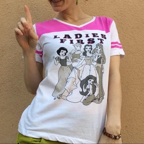 Disney Tops - Disney Princesses Ladies First Soft Tee